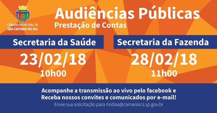 Câmara de São Caetano realiza audiências públicas em fevereiro