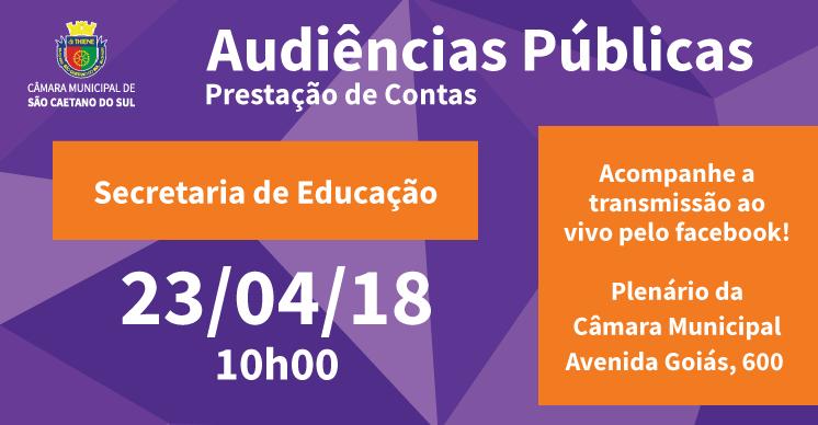 Audiência Pública - Secretaria de Educação