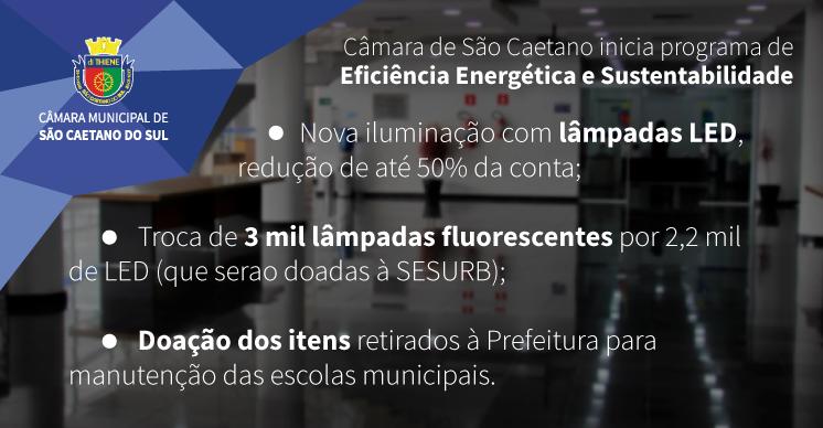 Câmara de São Caetano inicia programa de Eficiência Energética e Sustentabilidade