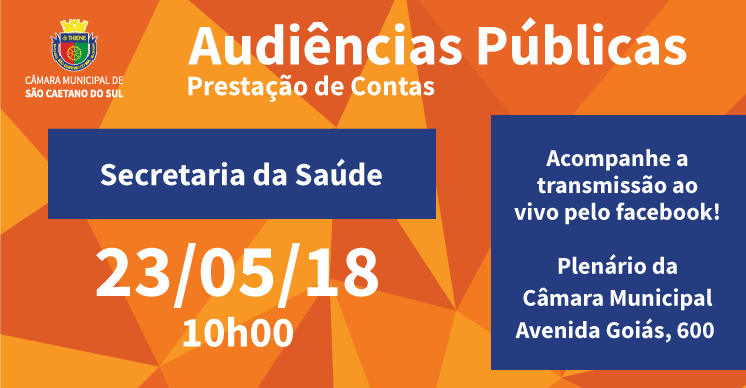 Audiência Pública - Secretaria da Saúde (1° Quadrimestre 2018)