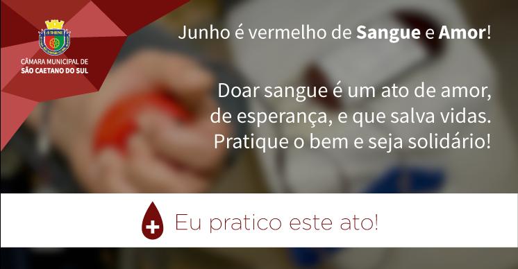 Junho Vermelho - Doação de Sangue