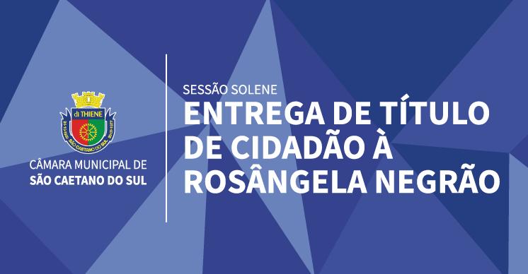Sessão Solene - Entrega de Título de Cidadão à Rosângela Negrão