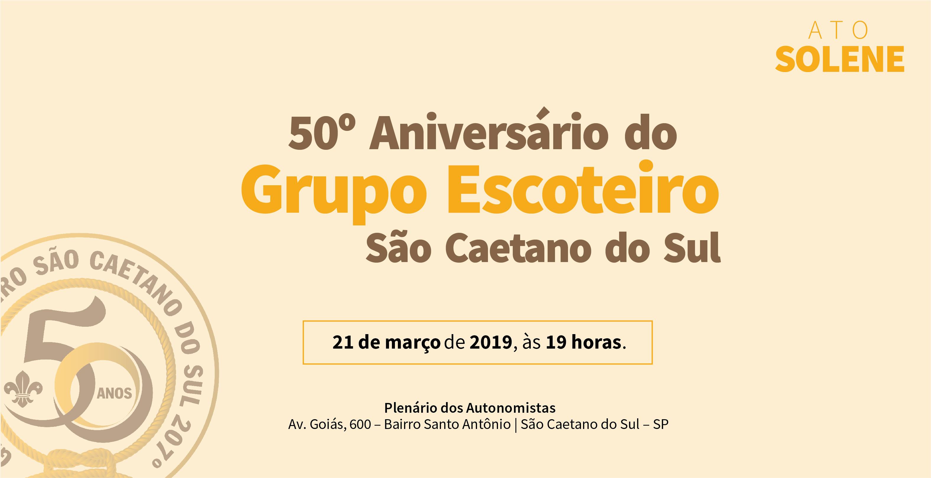 Câmara de São Caetano comemora 50 anos do Grupo Escoteiro São Caetano do Sul