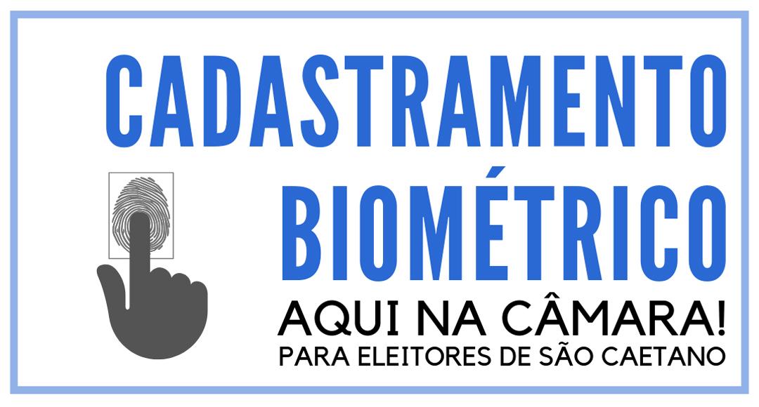 Posto de Cadastramento Biométrico na CMSCS