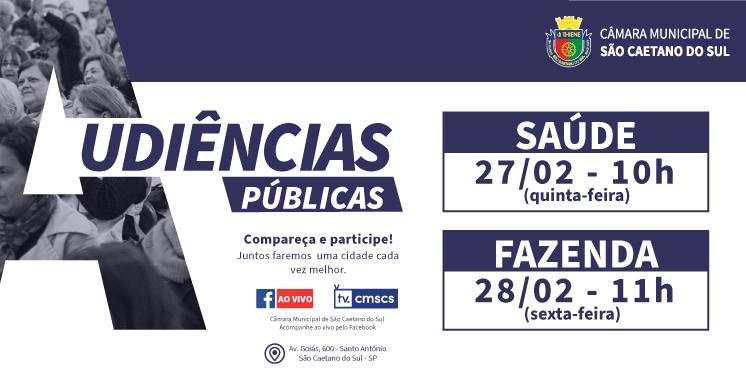 Câmara de São Caetano inicia audiências públicas de 2020