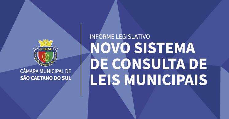 Novo Sistema de Consulta de Leis Municipais de São Caetano do Sul