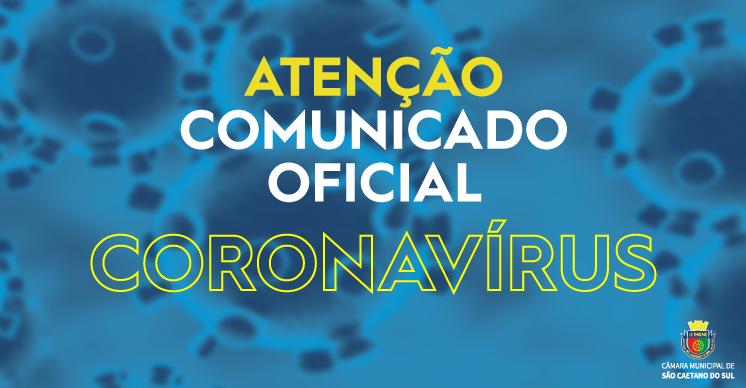 COMUNICADO OFICIAL - CORONAVÍRUS