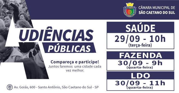 Audiências Públicas - Setembro