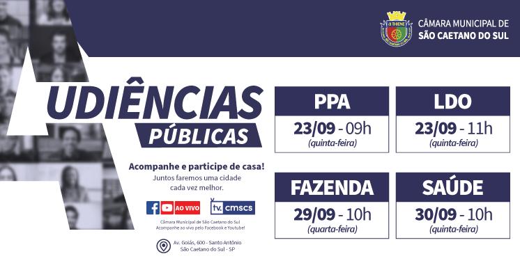 Audiências Públicas - Setembro/2021
