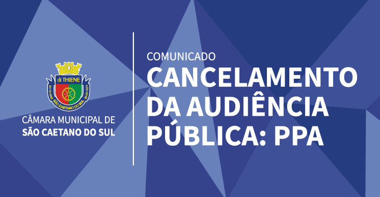 Comunicado - Cancelamento Audiência Pública
