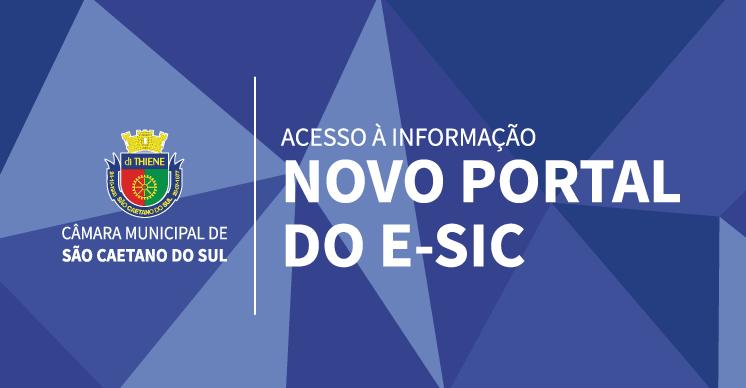 Novo portal do e-SIC
